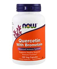 Кверцетин с Бромелаином (Quercetin with Bromelain), 120 капсул