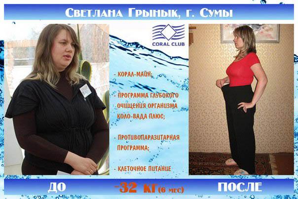 Коралловый клуб отзывы о похудении