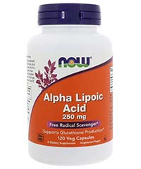 Альфа-липоевая кислота / Alpha Lipoic Acid, 120 капс, 250 мг